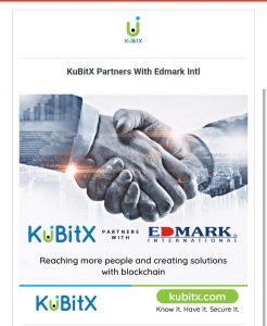 partnership between KuBitX and Edmark